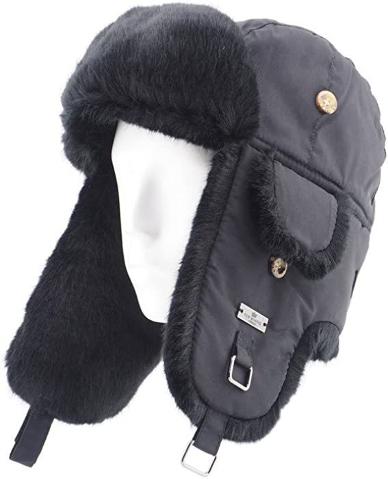 f722e2cfc Taslon Faux Fur Aviator Ski Trapper Trooper Pilot Hat