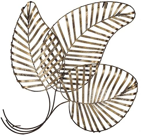 Deco De Ville Contemporary Modern Wall Sculpture Decor Urban Design European Style Bronze Flower Pattern Metal leaf, metal