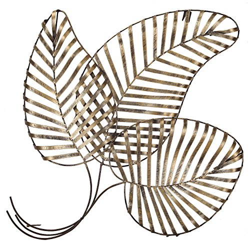 - Deco De Ville Contemporary Modern Wall Sculpture Decor Urban Design European Style Bronze Flower Pattern Metal (leaf, metal)