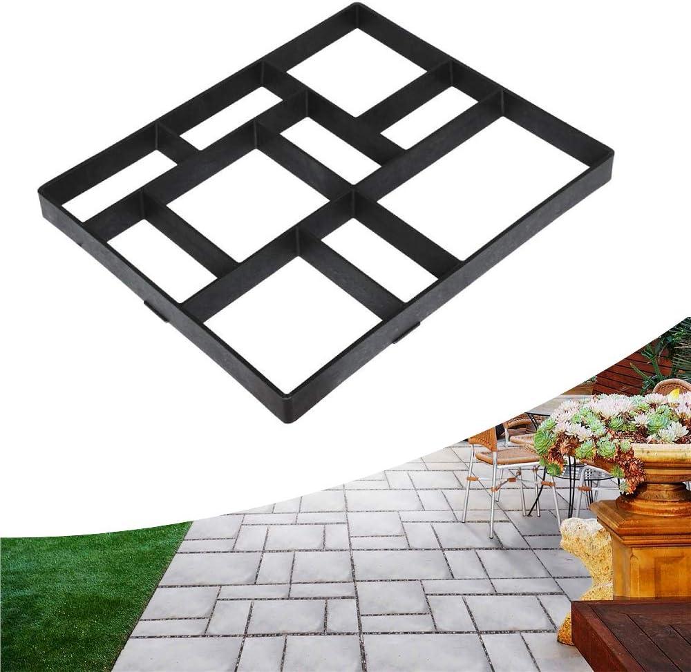 DIY Path Maker Driveway Walk Paving Pavement Mold Patio Concrete Stepping Stone