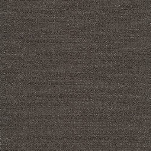 (Highland Park Summit Grey Black Ebony Solid Woven Textured Upholstery Fabric by the yard)