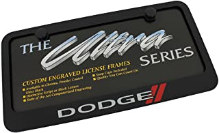 product image for Dodge Elite Automotive Products, Inc. Black New Logo License Plate Frame