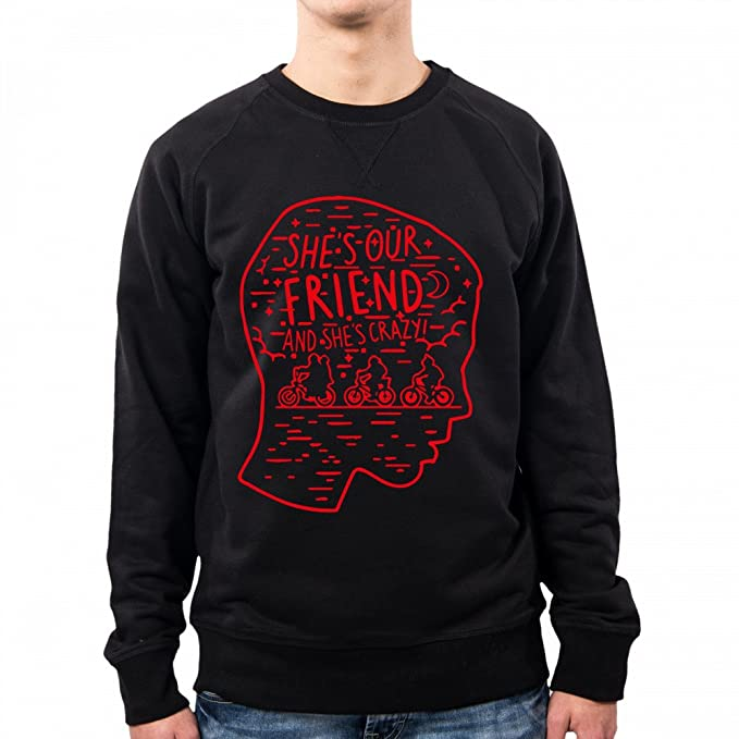 PacDesign Sudadera Hombre Stranger Things Eleven Crazy Red Pd1564a: Amazon.es: Ropa y accesorios