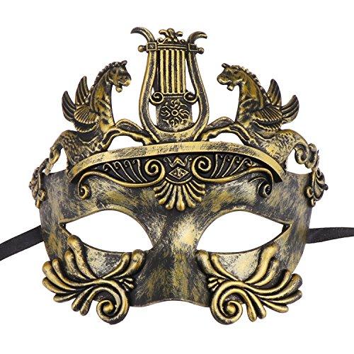 Mens Masquerade Mask Greek Roman Party Mask Mardi Gras Halloween Costume Mask ()