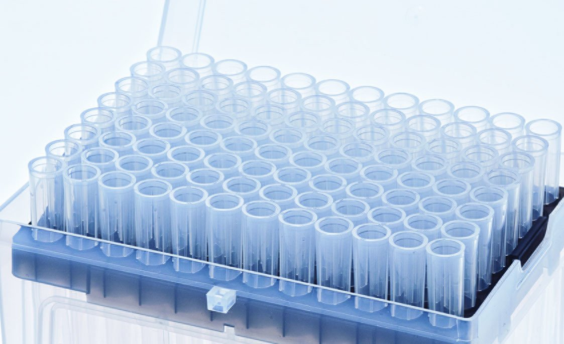 Stellar Scientific Teepa Tip 100uL Low-Retention Filter Pipette Tip, Sterile, Pack of 960 tips (10 x 96)