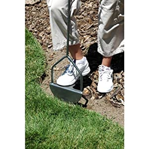 Yard Butler Step Edger Manual Steel Lawn Garden Sidewalk Grass Long Handled Foot Edging Tool With Rounded Saw Tooth Blade EDGE-180