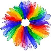 Jmkcoz 24pcs Square Juggling Silk Dance Scarves Magic Tricks Performance Props Accessories Movement Scarves 24 by 24…