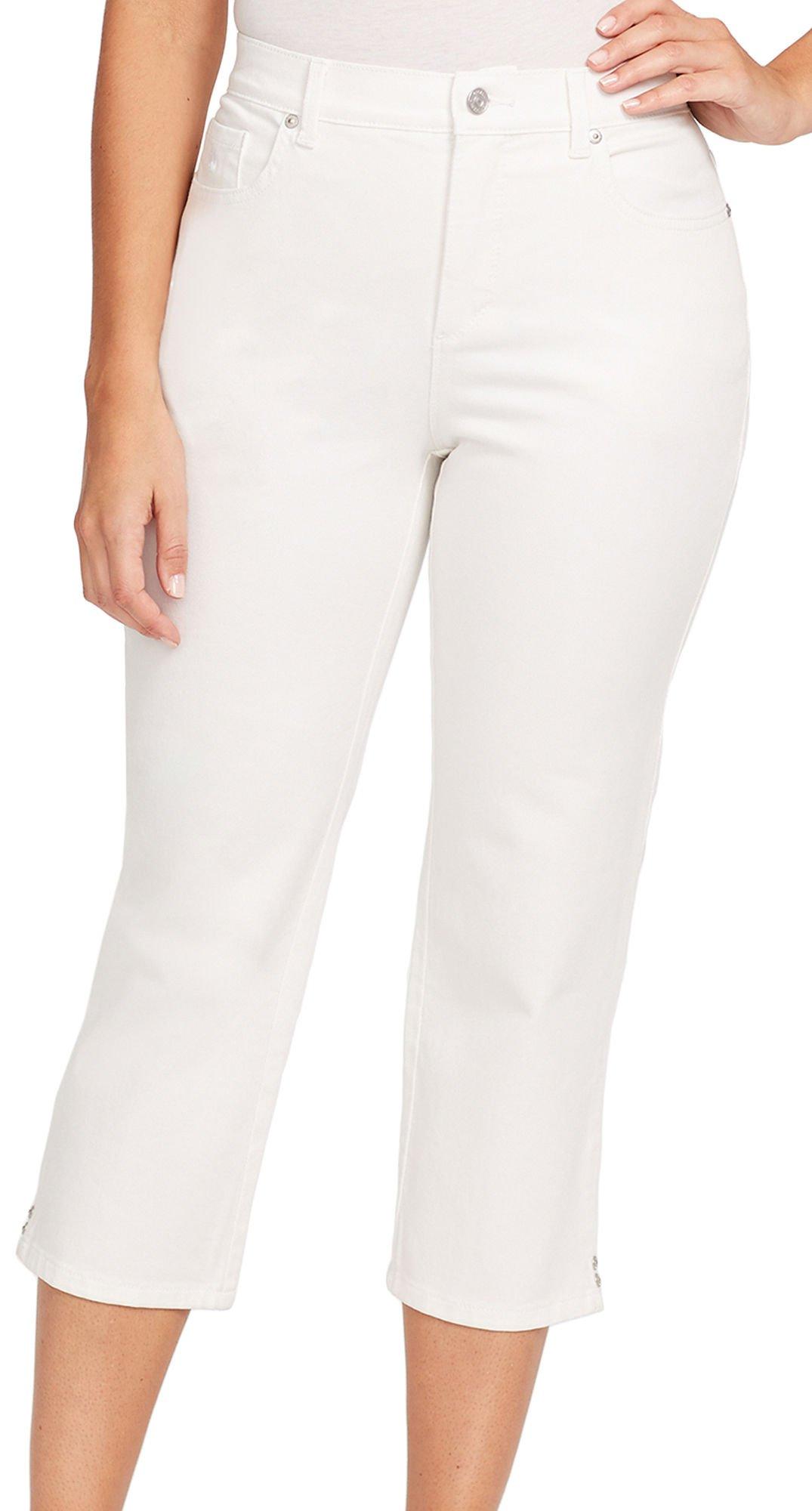 Gloria Vanderbilt Women's Petite Amanda Capri Jeans, Crystal White, 10P