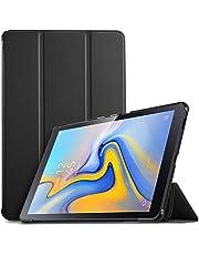 IVSO Funda Carcasa Slim PU Protectora con Auto Wake/Sleep Función para Samsung Galaxy Tab A SM-T590/SM-T595 10.5 2018, Negro