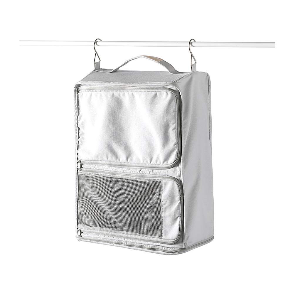 Rojeam Packable Hanging Travel Shelves Portable Packing Cube Organizer