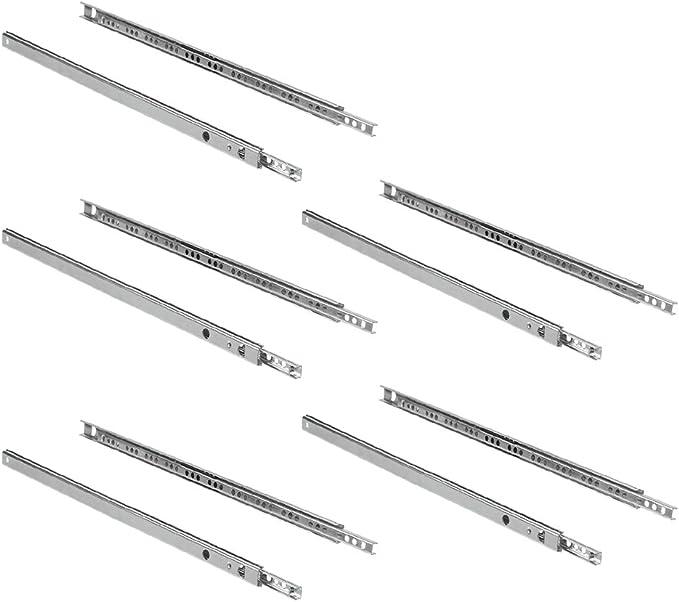 EMUCA Guías Laterales para cajones con rodamiento de Bolas 17mm x 374mm, extracción Parcial, Pack de 5 guías: Amazon.es: Bricolaje y herramientas