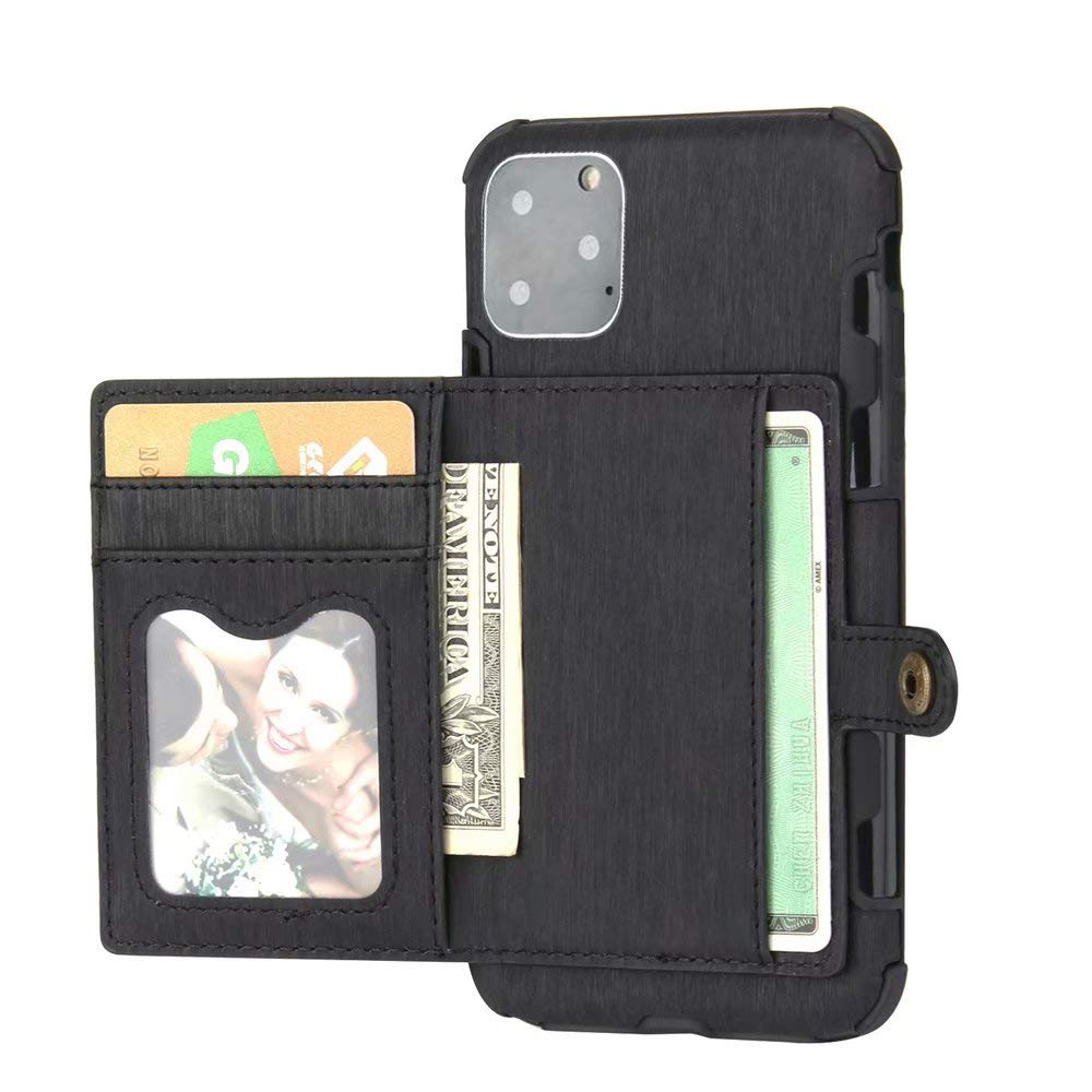 iPhone 11 Case 2019 6.1 Inch, Ranyi Protective Wallet Case with Credit Card Holder Slots Shock Absorbing Premium PU Leather Flip Wallet Case Cover for Apple 6.1 Inch iPhone 11 (2019), Black by Ranyi