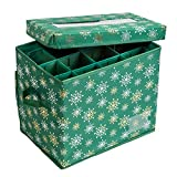 Honey-Can-Do 36-Piece Ornament Storage Container, Green