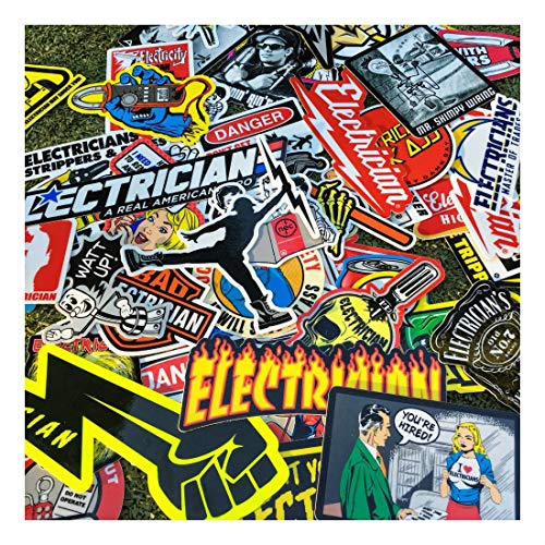 New Electrician (55+) Hard Hat Stickers Hardhat Decals, Lineman Reddy IBEW by Unknown (Image #1)