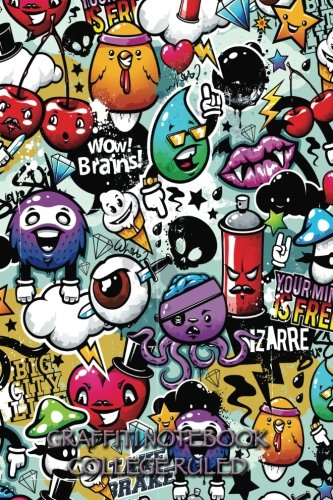 Graffiti Notebook College Ruled: 6 x 9 inch journal, 200 pages ()