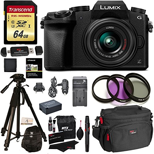 Panasonic DMC-G7KK Digital Single Lens Mirrorless Camera 14-42 mm Lens...
