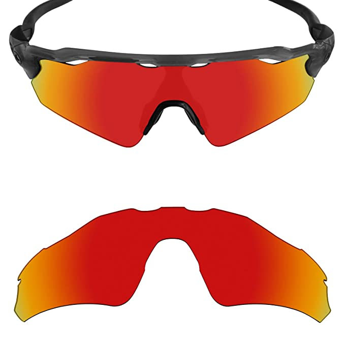 8309362d49 Mryok Polarized Replacement Lenses for Oakley Radar EV Path XS - Fire Red