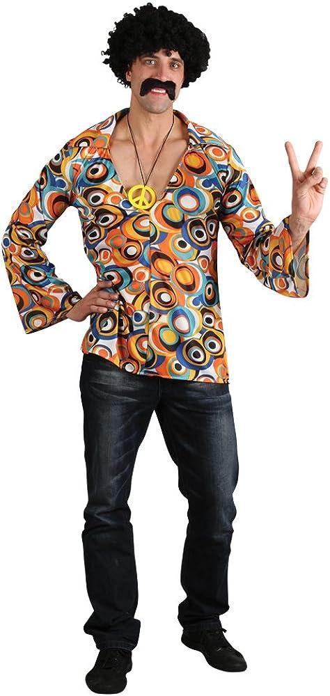 60s 70s Groovy Hippie Shirt - Adult Costume Accessory Men : MEDIUM: Amazon.es: Juguetes y juegos