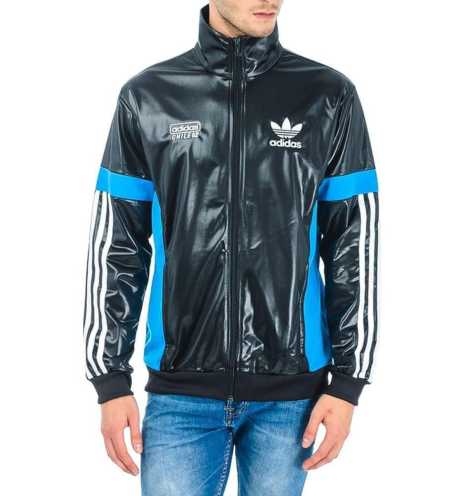 Chaqueta adidas M Chile 62 TT2 Track Top , hombre, Black / Solblue G90066, small: Amazon.es: Deportes y aire libre