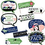 Funny Kentucky Derby - Horse Race Party Photo Booth Props Kit - 10 Piece