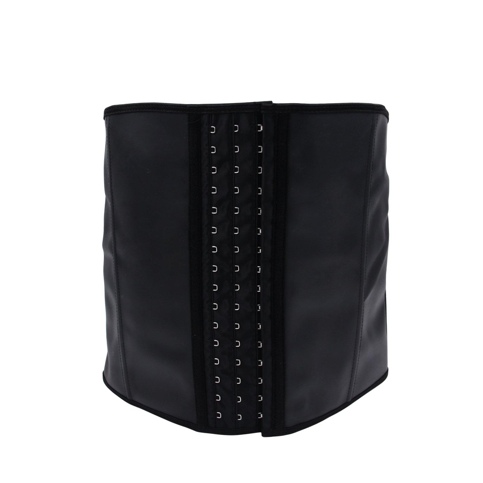 Imurz Men's Tummy Control Steel Boned Waist Trainer Workout Sport Shapewear (Black, 5XL)