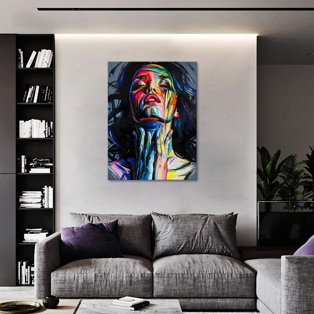 12W x 18H Yatsen Bridge Abstract Albert Einstein Canvas Wall Art Famous Scientist Portrait Modern Colorful Artwork Educational Painting Poster Framed Wall Decor for for Office Classroom Decor