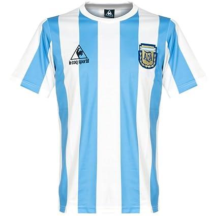 1f20e6895d Amazon.com : Le Coq Sportif 1986 Argentina Home Retro Shirt : Sports ...