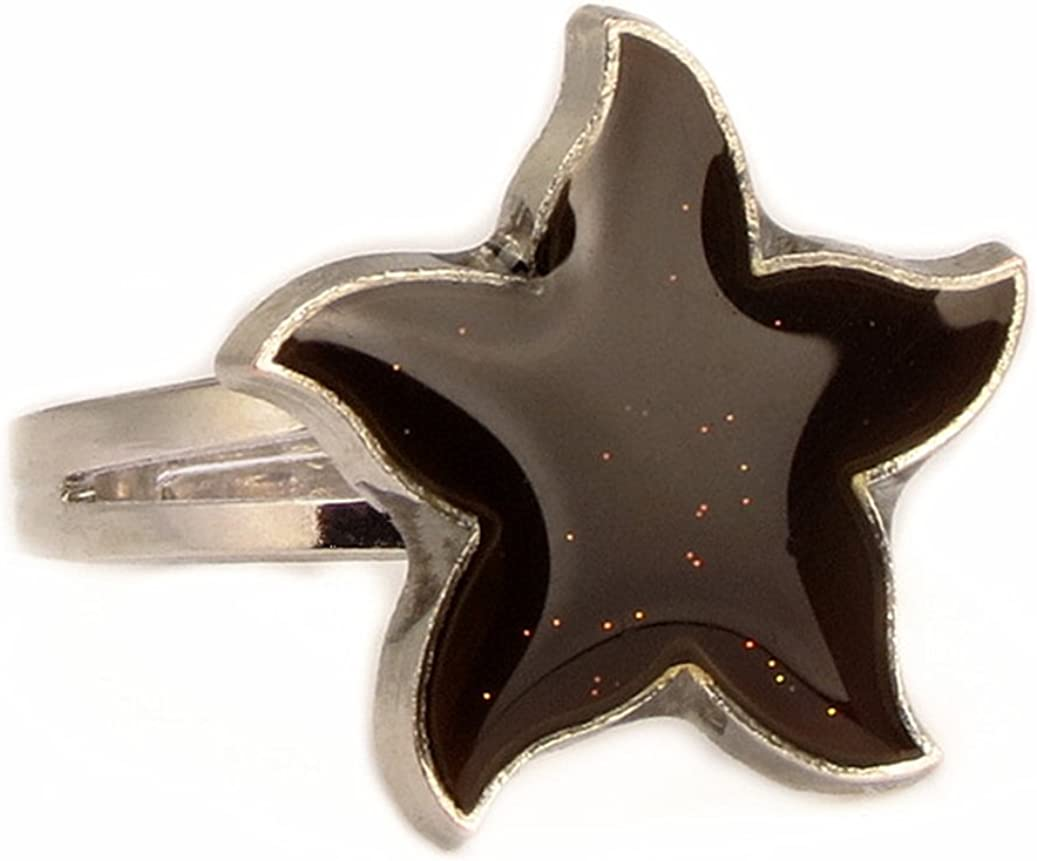 Acchen Mood Ring Star Changing Color Emotion Feeling Finger Ring with Box