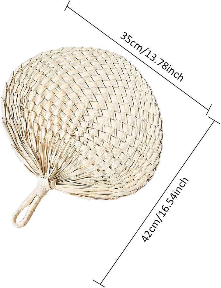 lot d/'/éventails PAI PAI Marron Motif Feuille de Palme pour d/écoration de la Maison Palma Ventilateur Fait /à la Main Diafrican /Éventail en Tissu /à la Main Style Chinois fabriqu/é /à la Main