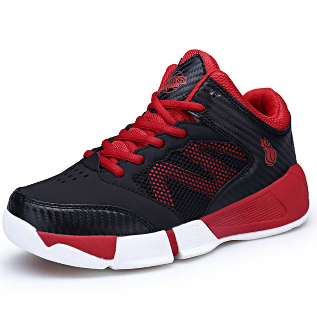 Hoxekle Boys Outdoor High Top Basketball Sneakers Breathable Non Slip Athletic Running Shoes Kids Toddler