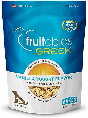 Fruitables Greek Crunchy Dog Treats Vanilla Yogurt Flavor With Pumpkin Granola Greek Yogurt 7 Oz