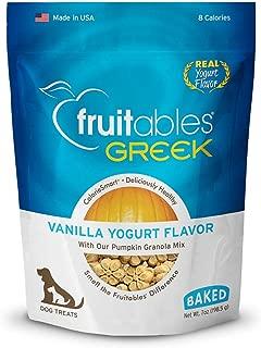 product image for Fruitables Greek Crunchy Dog Treats Vanilla Yogurt Flavor With Pumpkin Granola & Greek Yogurt 7 Oz