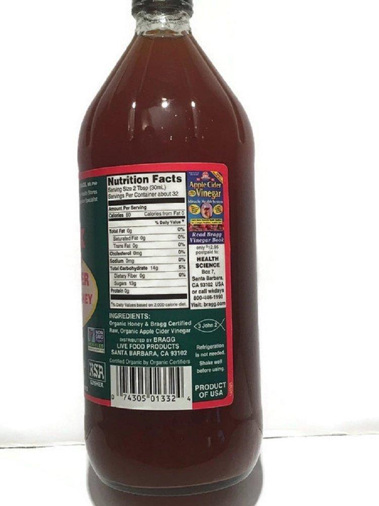 Bragg Organic Apple Cider Vinegar & Honey Blend -- 32 fl oz