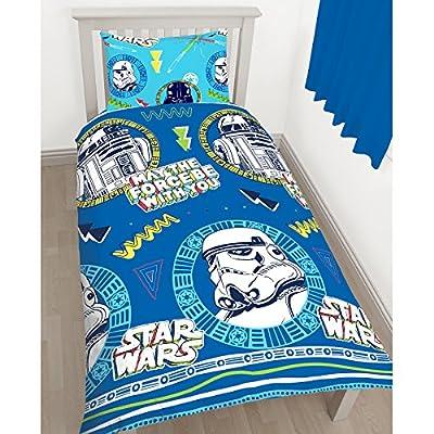 Star war Disney Classic 'Doodle' Single Duvet Set - Repeat Print Design
