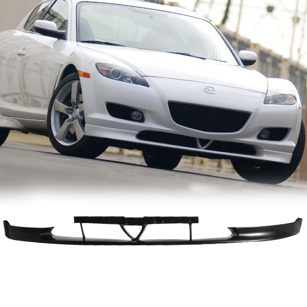 04-08 Mazda RX8 RX-8 4 Door OEM Style Add-On Front Bumper Lip Spoiler Urethane IKON MOTORSPORTS