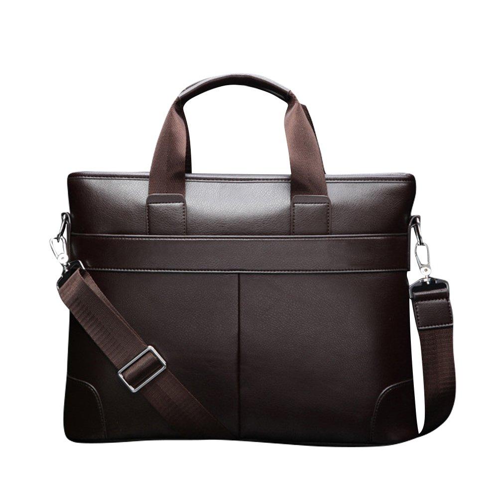 FuweiEncore Aktentasche aus Leder Aktentasche aus Leder mit Schulterriemen (Farbe : Braun)