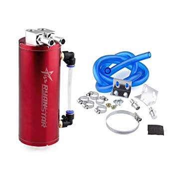 ryanstar Universal 450 ml aluminio Racing Depósito de aceite Catch Tanque redondo puede Turbo aceite Catch Can: Amazon.es: Coche y moto