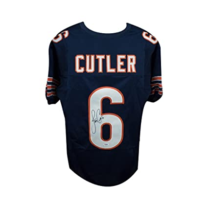 1f07547e50f Image Unavailable. Image not available for. Color: Jay Cutler Autographed Chicago  Bears Custom Navy Football ...