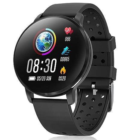 CatShin Smart Watch Activity Tracker con monitor de frecuencia cardíaca - CS06 IP68 Impermeable Multifunción Ronda Fitness Bluetooth Reloj deportivo ...