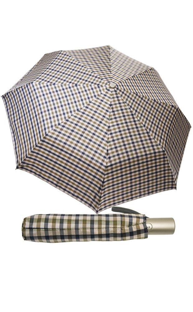 (レインボー) rainbowイタリア ミラノ 老舗傘ブランド  折りたたみ傘 ワンタッチ 自動開閉 チェック柄(全6色) B008CMXDLG スモールチェックブラウン スモールチェックブラウン