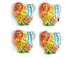 Madelaine Highly Detailed, Solid Premium Milk Chocolate Miniature Turkeys Wrapped In Colorful Italian Foil - 1/2 Pound