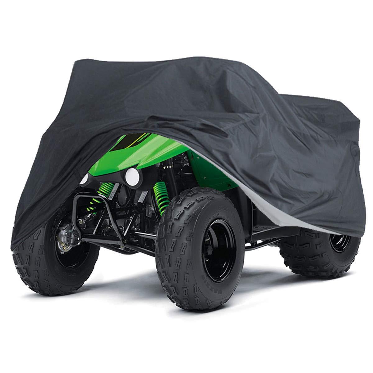 WGE Alle Gr/ö/ßen Motorradabdeckung Schwarz ATV Cover Fahrzeug Beach Moto Cover Wasserdichter Roller Motorrad-Schutzh/ülle