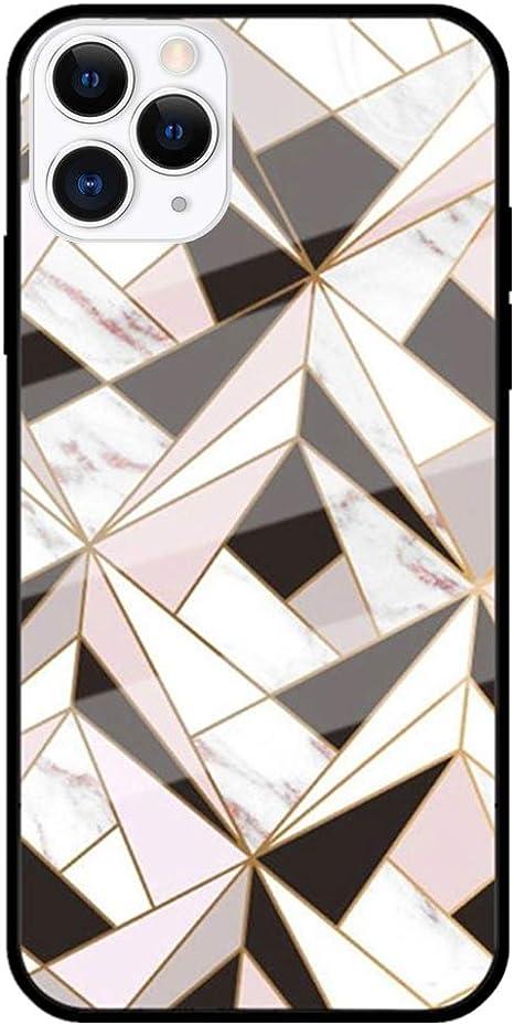 MoreChioce Coque iPhone 11 Pro Marbre Géométrie motif Silicone ...