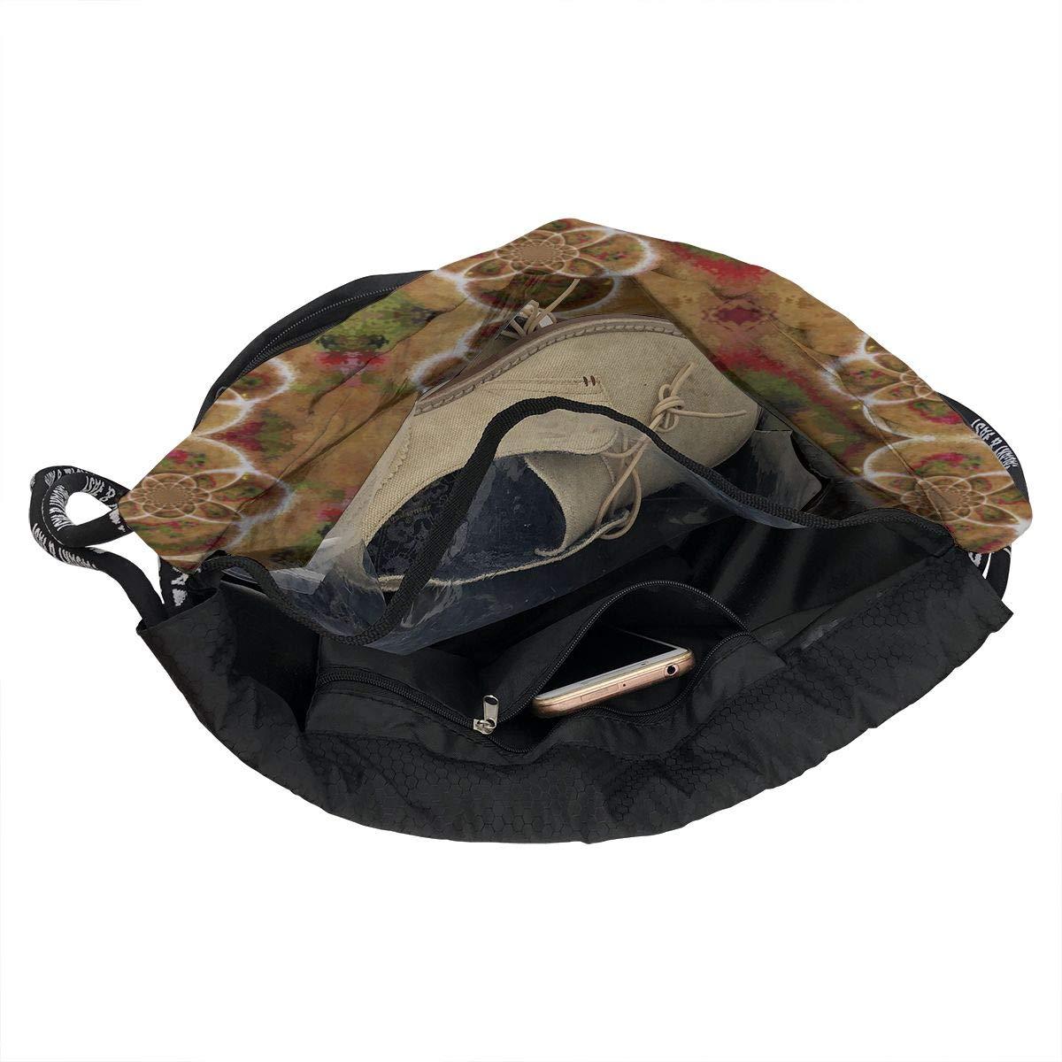 Oriental Dragon Circle Drawstring Backpack Sports Athletic Gym Cinch Sack String Storage Bags for Hiking Travel Beach