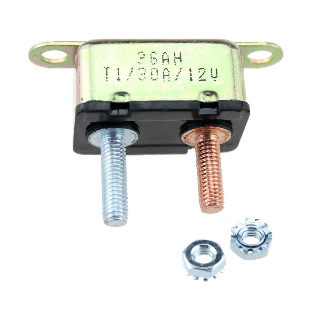 MonkeyJack NEW Metal RV/Trailer Short Stop 12V Circuit Breaker 30A Auto-Reset