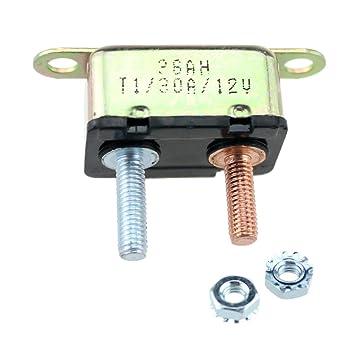 Gazechimp 1x 30A Leistungsschalter + 2x Montage Schrauben für Auto ...