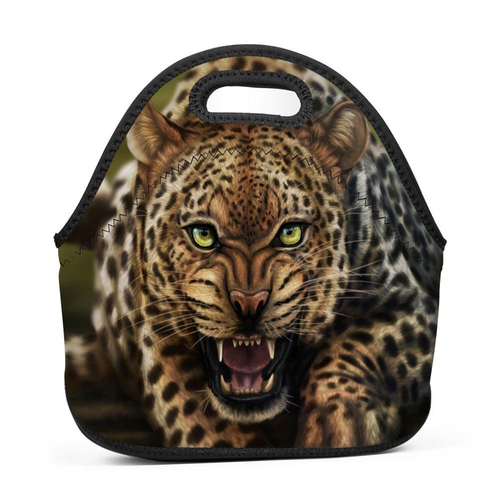 tnilsk Lunch Tote Funny Roarチーターランチバッグfor unisex-daily作業、学校、フィールド、旅行、厚い熱防水Insulated Lunch Box Carryケース One Size ブラック erh396fP6FJ-KGZ-XOQ One Size ブラック B07FN91WQH