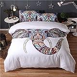 (#005) Mandala Comforter Bedding Cover Colorful Elephant Boho India Duvet Covers Set