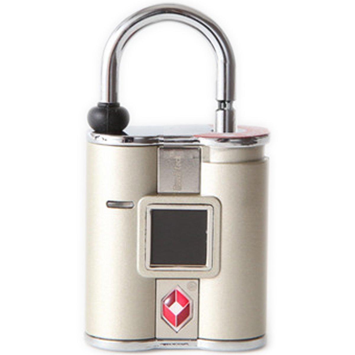 鍵の要らない指紋認証型スマート南京錠「TouchLock(タッチロック)」 TSA ゴールド TSAロック対応済み B077SYDHYB ゴールド ゴールド