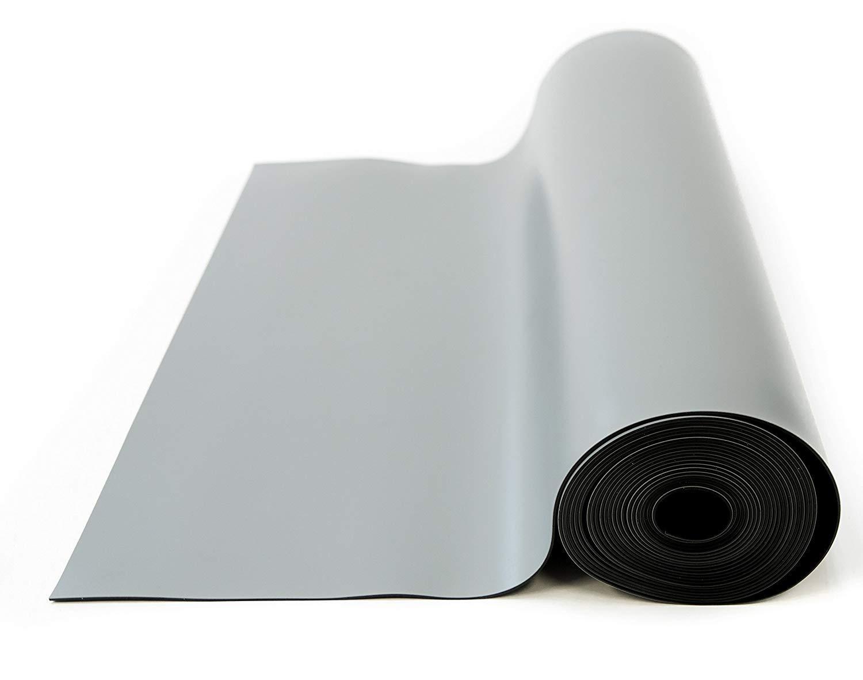 Bertech ESD High Temperature Rubber Mat Roll, 3' Wide x 25' Long x 0.08'' Thick, Gray